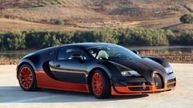 bugatti veyron orange, bugatti veyron, bugatti veyron 16 4 supersport - wallpapers, picture