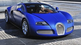 bugatti, veyron, blue, front view, supercar - wallpapers, picture