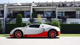 bugatti, veyron, car, white, red, hotel, bugatti - wallpapers, picture