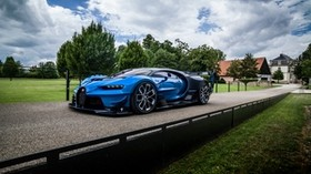 bugatti, vision, gran turismo, blue, side view - wallpapers, picture