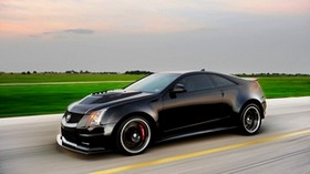cadillac, cts-v, hennessey, black, side view - wallpapers, picture