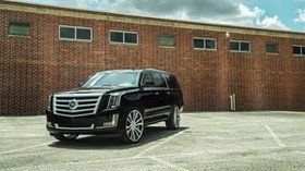 cadillac, escalade, black, side view - wallpapers, picture