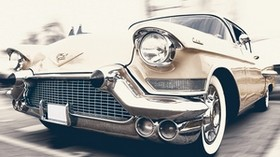 cadillac, oldtimer, front view - wallpapers, picture