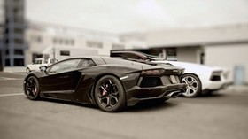 black, stylish, auto, lamborghini - wallpapers, picture