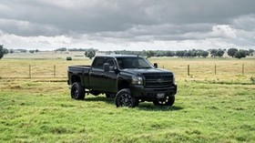 chevrolet, avalanche, black, side view - wallpapers, picture