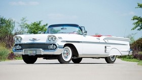 chevrolet, bel air, impala, 1958, convertible - wallpapers, picture