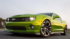 chevrolet camaro, auto, machine, cars, cars, green - wallpapers, picture