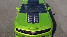 chevrolet camaro, auto, machine, cars, cars, green, top view - wallpapers, picture