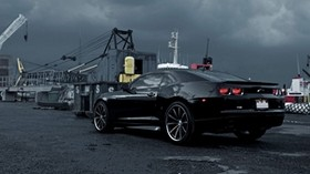 chevrolet, camaro, black, cars, cars, auto - wallpapers, picture