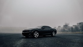 chevrolet camaro, chevrolet, side view, fog - wallpapers, picture
