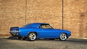 chevrolet camaro, muscle car, auto, blue, side view - wallpapers, picture