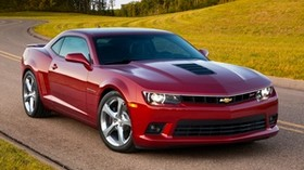 chevrolet, camaro, ss, 2013, red - wallpapers, picture