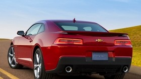 chevrolet, camaro, ss, 2013, rear view, red - wallpapers, picture