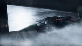chevrolet, camaro, ss, muscle, black, smoke - wallpapers, picture