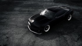 chevrolet, camaro, zl1, matte, black - wallpapers, picture