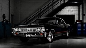 chevrolet, black, stylish, car - wallpapers, picture
