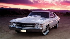 chevrolet, chevelle, white, front view, ss, 1972 - wallpapers, picture