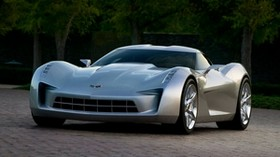 chevrolet, corvette, stingray, gray, car - wallpapers, picture