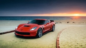 chevrolet, corvette, z06, red - wallpapers, picture