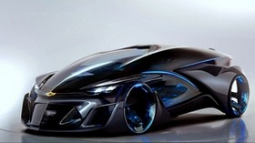 chevrolet, fnr, concept, 2015, side view, supercar - wallpapers, picture
