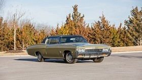 chevrolet, impala ss, 1968, coupe, side view - wallpapers, picture