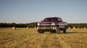 chevrolet, silverado, double cab, front view - wallpapers, picture