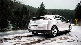 chevrolet volt, chevrolet, snowfall, side view, snow - wallpapers, picture
