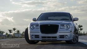 chrysler 300c srt8, chrysler, front view, car, headlight - wallpapers, picture