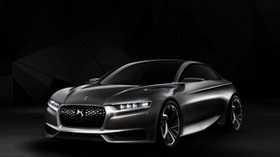 citroen, divine, ds, black, side view, concept - wallpapers, picture