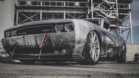 dodge challenger, dodge, challenger, sports car, racing, headlights, bumper, wheel - wallpapers, picture