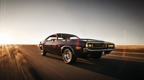 dodge, challenger, motion, speed - wallpapers, picture