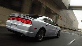 dodge, charger, auto, silver, movement - wallpapers, picture