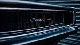 dodge charger, front bumper, logo - wallpapers, picture