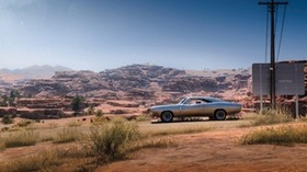 dodge charger rt 69, dodge, machine, old, gray, desert - wallpapers, picture