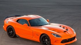 dodge, srt, viper, ta, orange, side view - wallpapers, picture
