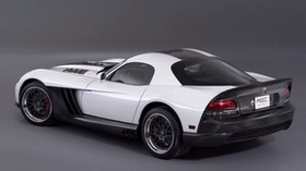 dodge viper, auto, black, white, side view - wallpapers, picture