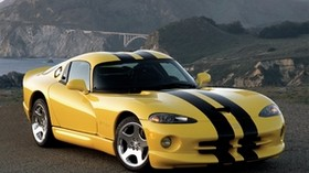 dodge viper, gts, yellow, side view - wallpapers, picture