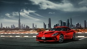 dodge, viper, srt, dodge viper, auto, red, side view - wallpapers, picture