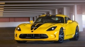 dodge, viper, srt, gts, yellow, front view, parking - wallpapers, picture