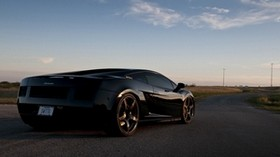 road, black, auto, lamborghini - wallpapers, picture