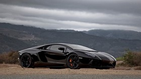 road, mountains, sky, stylish, auto, lamborghini - wallpapers, picture