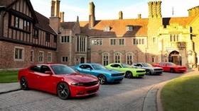yard, 100th, cars, anniversary, dodge, challenger, charger, 2015, srt, rt, hellcat - wallpapers, picture