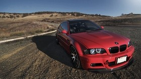 e46, bmw, red, auto, side view - wallpapers, picture