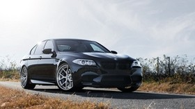 f10, m5, black, black, bmw, bmw, front view - wallpapers, picture