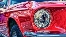 headlight, auto, red - wallpapers, picture