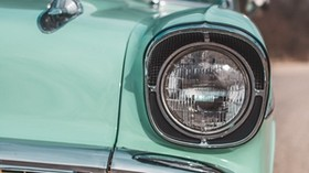 headlight, auto, retro, front view - wallpapers, picture