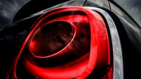 headlight, car, red, black, light - wallpapers, picture