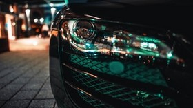 headlight, auto, front bumper, blur - wallpapers, picture