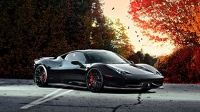 ferrari, 458 italia, car, side view, black - wallpapers, picture