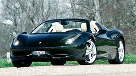 ferrari, 458, italia, convertible, black, front view - wallpapers, picture
